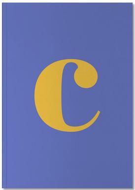 Blue Letter C Carnet de note