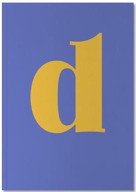 Blue Letter D Carnet de note