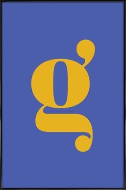 Blue Letter G affiche encadrée