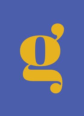 Blue Letter G toile