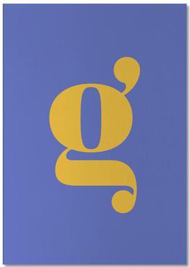 Blue Letter G bloc-notes