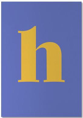 Blue Letter H bloc-notes