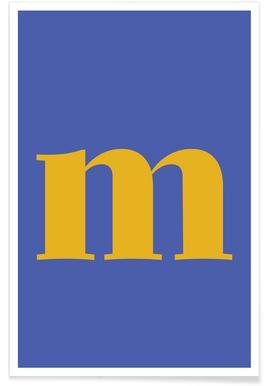 Blue Letter M affiche