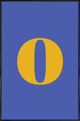 Blue Letter O affiche encadrée