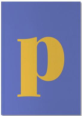 Blue Letter P Carnet de note