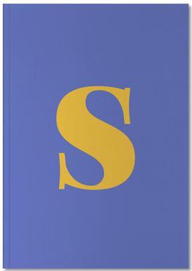 Blue Letter S Carnet de note