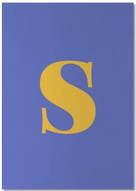 Blue Letter S bloc-notes
