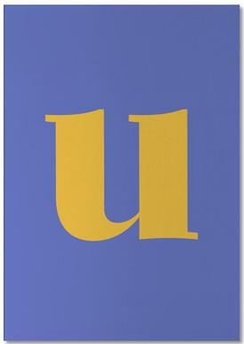 Blue Letter U bloc-notes