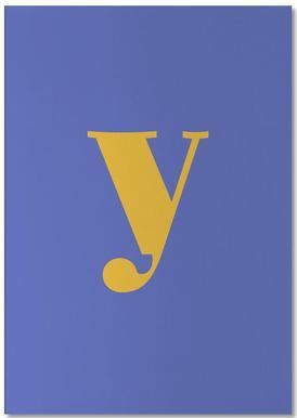 Blue Letter Y bloc-notes
