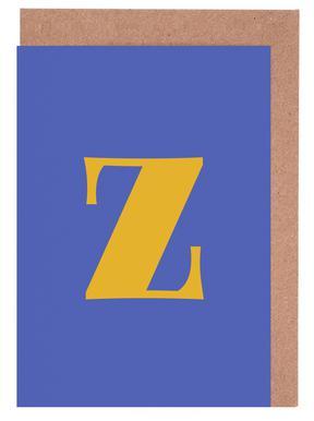 Blue Letter Z cartes de vœux
