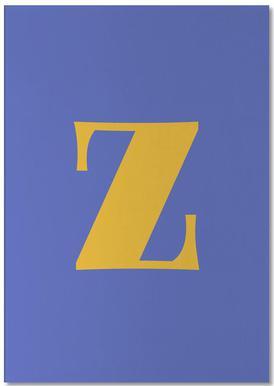 Blue Letter Z bloc-notes