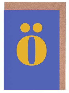 Blue Letter ö cartes de vœux
