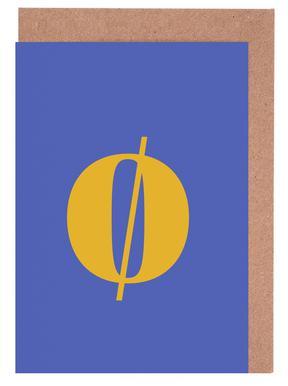 Blue Letter ø cartes de vœux