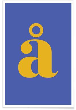 Blue Letter å affiche