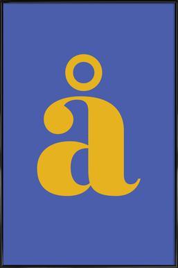 Blue Letter å affiche encadrée