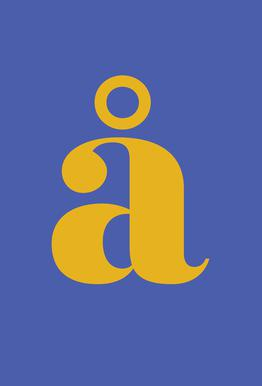 Blue Letter å Impression sur alu-Dibond