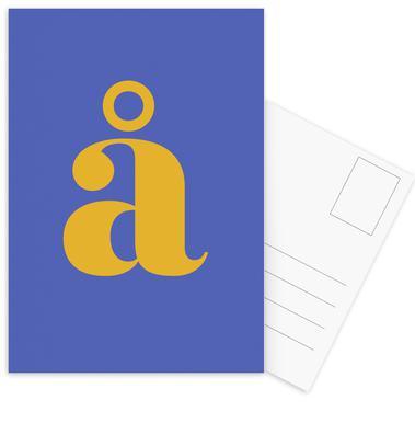 Blue Letter å cartes postales