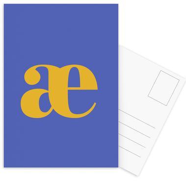 Blue Letter æ cartes postales