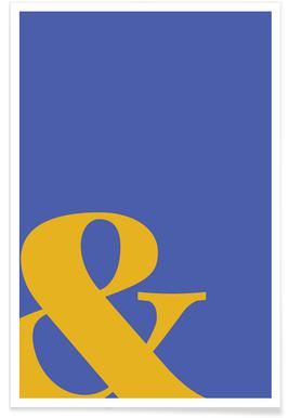 Blue Symbol & affiche