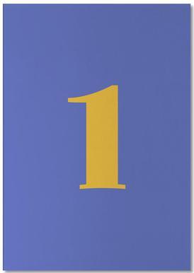 Blue Number 1 bloc-notes