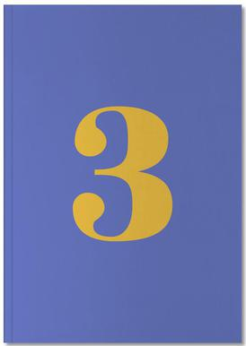 Blue Number 3 Carnet de note