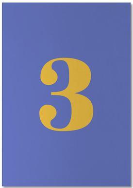 Blue Number 3 bloc-notes