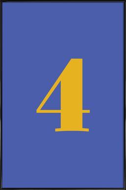 Blue Number 4 affiche encadrée