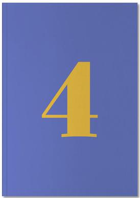 Blue Number 4 Carnet de note