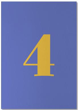 Blue Number 4 bloc-notes