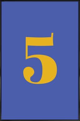 Blue Number 5 affiche encadrée