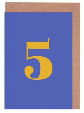 Blue Number 5 cartes de vœux