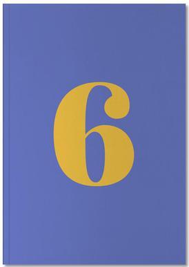 Blue Number 6 Carnet de note