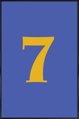 Blue Number 7 affiche encadrée