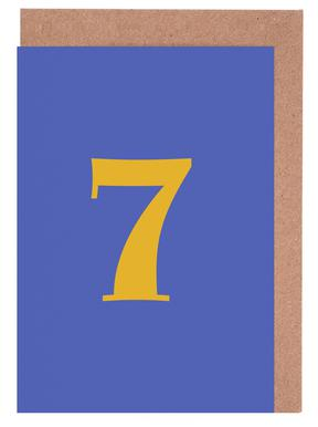 Blue Number 7 cartes de vœux