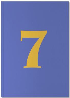 Blue Number 7 Carnet de note