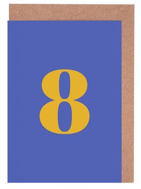 Blue Number 8 cartes de vœux