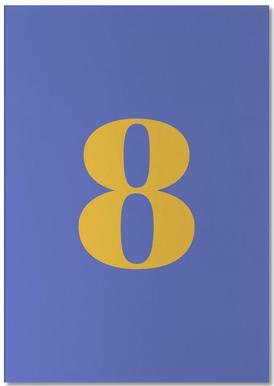 Blue Number 8 bloc-notes