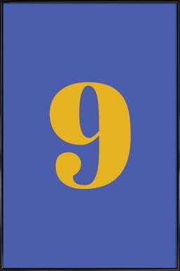 Blue Number 9 affiche encadrée