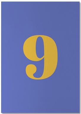 Blue Number 9 bloc-notes