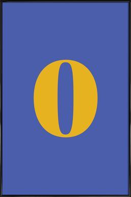 Blue Number 0 affiche encadrée