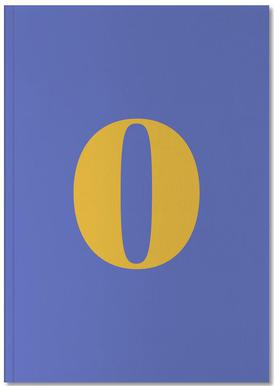 Blue Number 0 Carnet de note