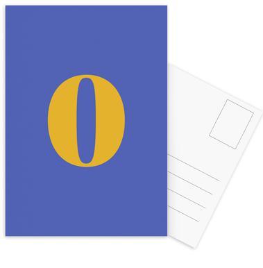 Blue Number 0 cartes postales