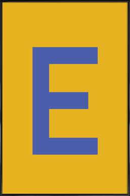 Yellow Letter E Framed Poster