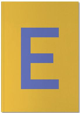 Yellow Letter E Notebook
