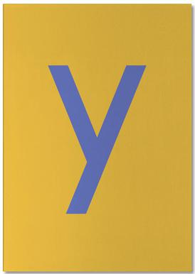 Yellow Letter Y Bloc-notes
