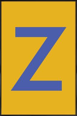 Yellow Letter Z affiche encadrée