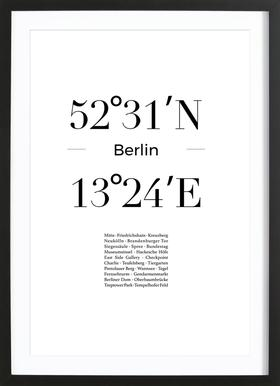 Berlin -Bild mit Holzrahmen