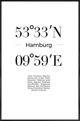 Hamburg Affiche sous cadre standard