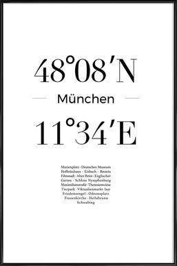 München -Bild mit Kunststoffrahmen