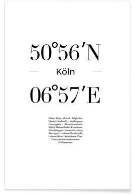 Köln -Poster